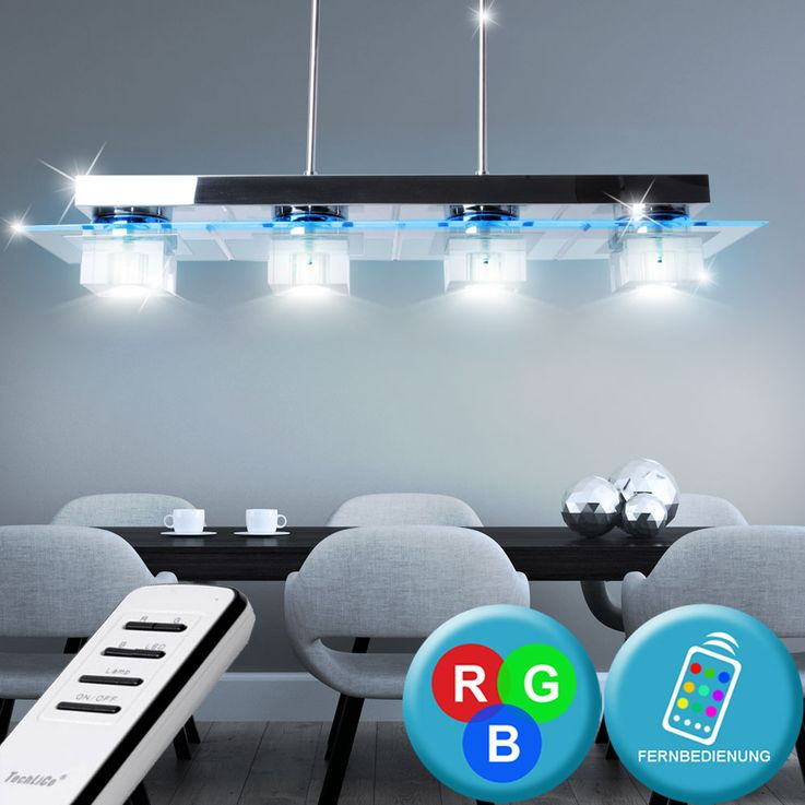 RGB LED ceiling lamp color change remote control hanging lamp height adjustable  Brilliant G93267 / 15 – Bild 2
