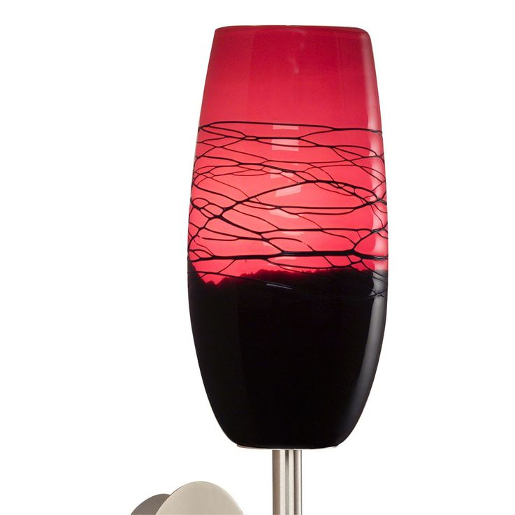 Design Wall lamp made of handmade glass in black red – Bild 4