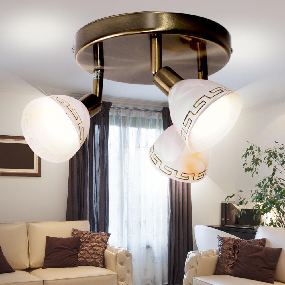 LED 10 Watt Decken Beleuchtung Wohn Ess Zimmer Leuchte Blüten Energie Spar Lampe