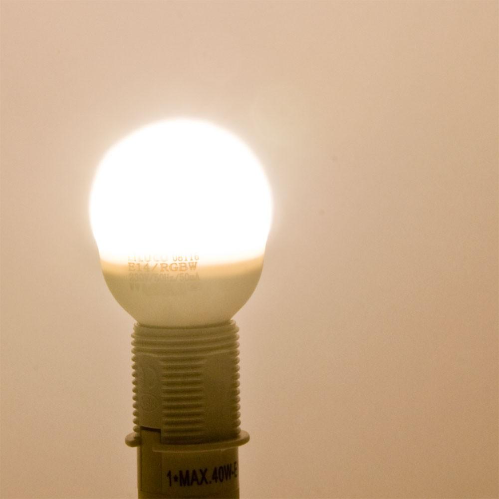 Hochwertiges e14 rgb led leuchtmittel mit fernbedienung for Lampen mit fernbedienung