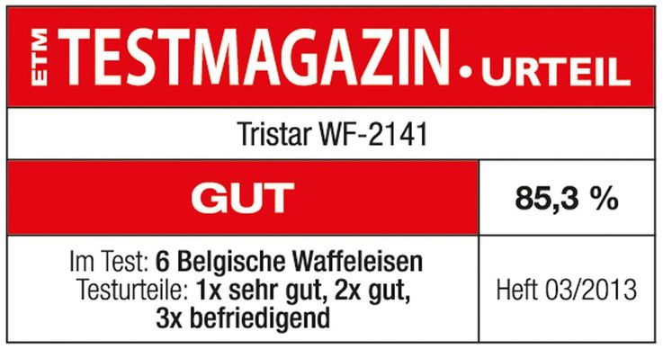 Double waffle maker 1000W adjustable thermostat waffle maker Tristar WF-2141 – Bild 2