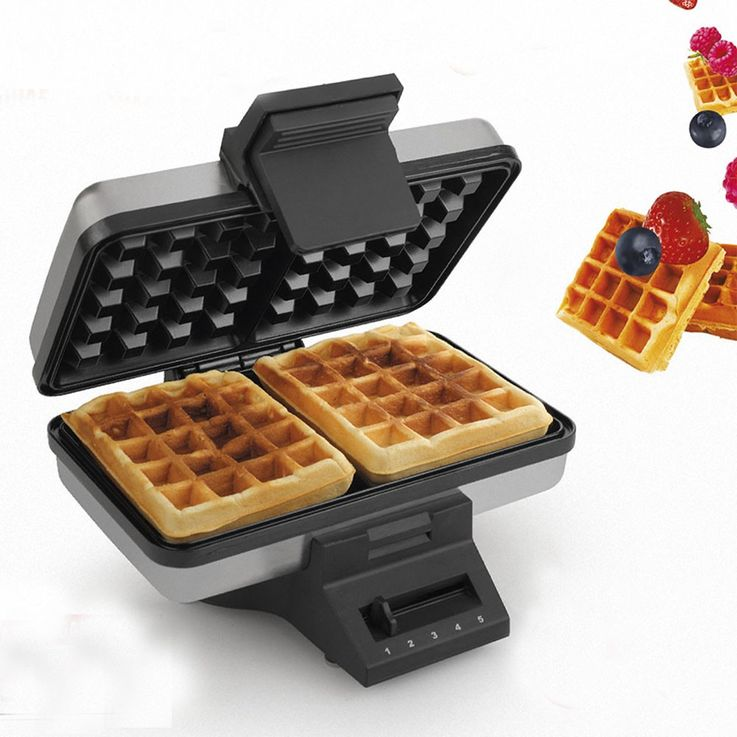 Double waffle maker 1000W adjustable thermostat waffle maker Tristar WF-2141 – Bild 8