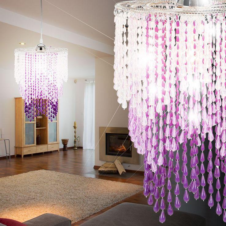 Design Pendel Leuchte Kristalle Decken Lampe Beleuchtung Luster Globo 16002+A1 – Bild 2