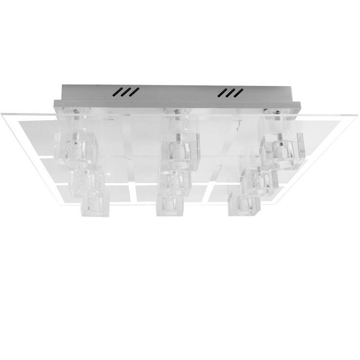 RGB LED Glaswürfel Deckenleuchte mit Fernbedienung SANDOR – Bild 1