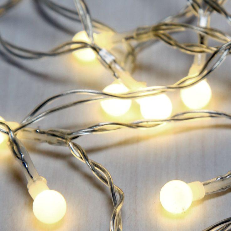 20x LED Lichter Kette Weihnachts Beleuchtung Kugel Lampen Advents Deko Leuchten Globo 29953-20 – Bild 1