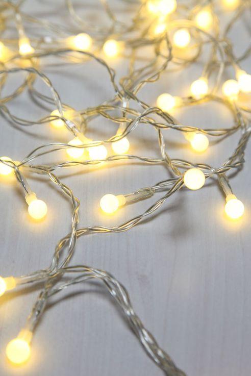 50x LED Lichterkette, Kugeln weiß, Länge 520 cm, VENUTO – Bild 3
