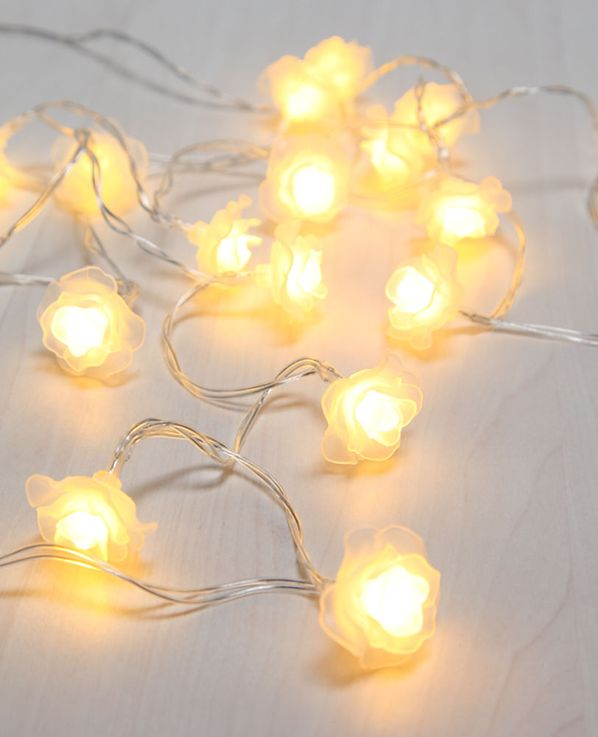 30x LED fairy lights, rose petals, white, L 494 cm, VENUTO – Bild 3