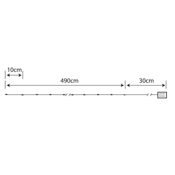 50x LED Lichter Kette Weihnachts Deko Beleuchtung Kupfer X-MAS Advents Lampe silber Globo 29950-50 – Bild 4