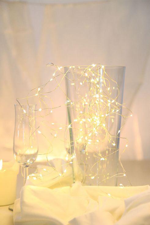 100x Deko LED Lichter Kette Weihnachts Dekoration silber X-MAS Kupfer Lampen 1020 cm Globo 29950-100 – Bild 4