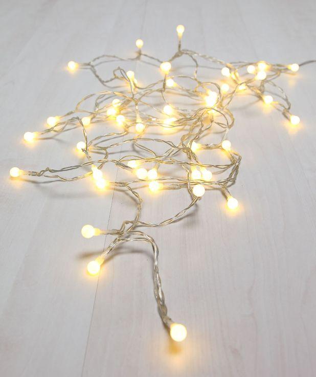100x LED Lichterkette, Kugeln weiß, Länge 1290 cm, VENUTO – Bild 3