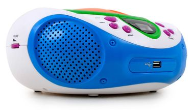 Kinder Stereo Musik Anlage Radio Toplader CD/MP3-Player AUX Lenco SCD-40 USB Kids – Bild 2