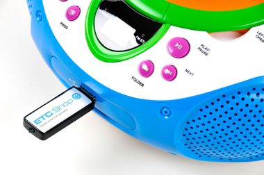 Kinder Stereo Musik Anlage Radio Toplader CD/MP3-Player AUX Lenco SCD-40 USB Kids – Bild 4