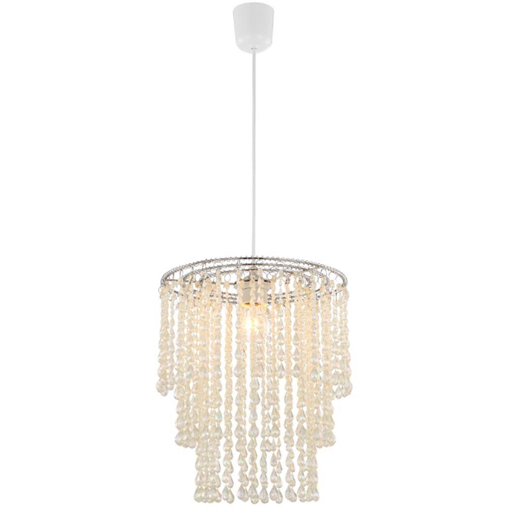 eleganter luster mit klaren acryl kristallen lampen m bel r ume wohnzimmer. Black Bedroom Furniture Sets. Home Design Ideas