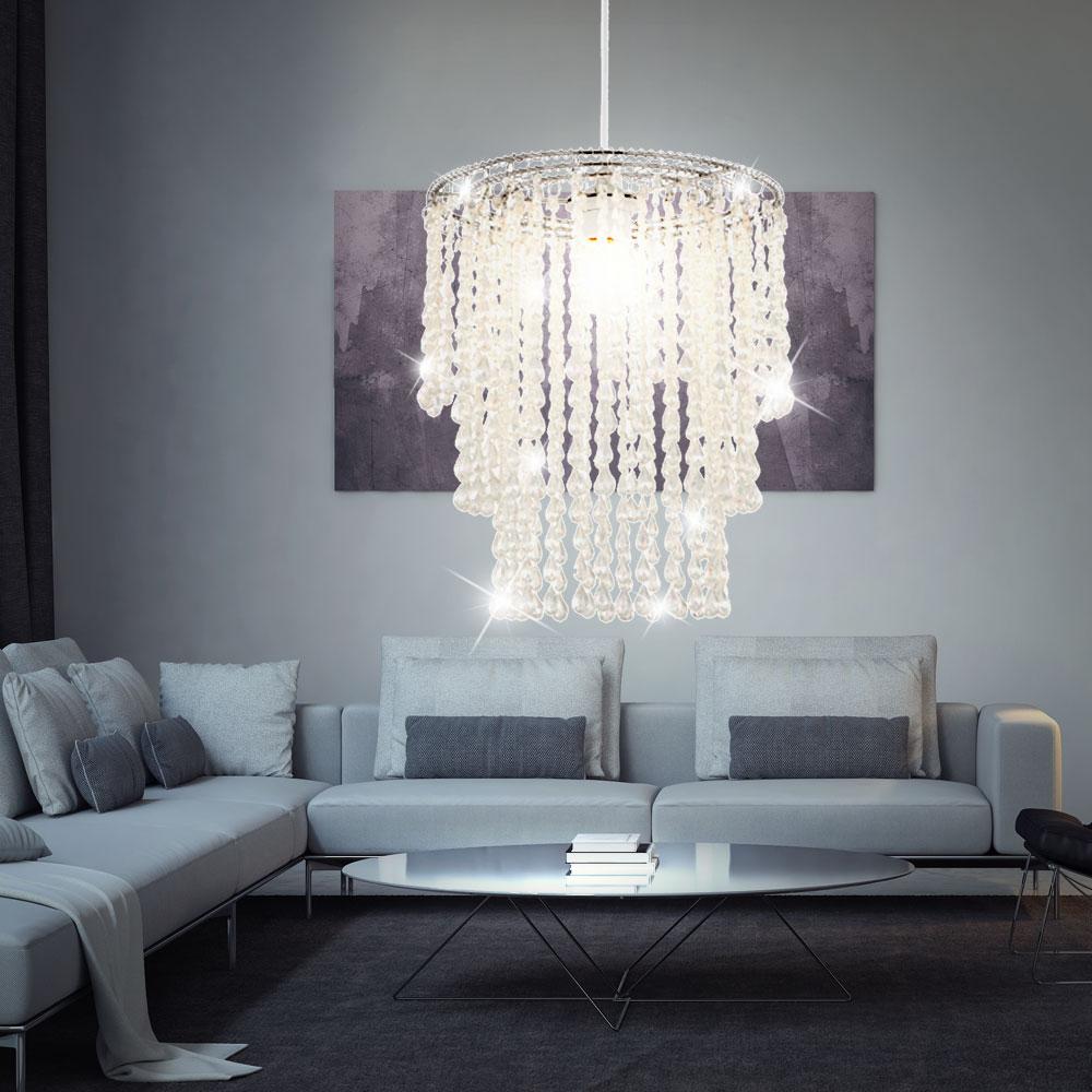 eleganter luster mit klaren acryl kristallen lampen m bel innenleuchten h ngeleuchten. Black Bedroom Furniture Sets. Home Design Ideas