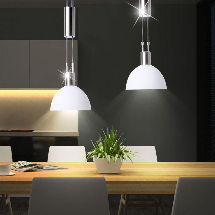 Ceiling pendant lamp living dining room lighting glass lamp height adjustable  Brilliant 77371/77 – Bild 2