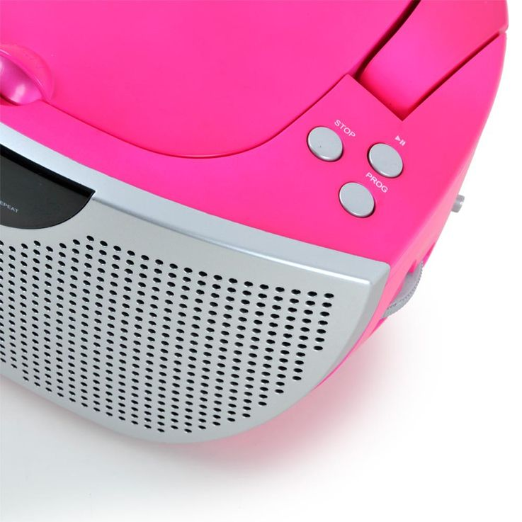 Tragbarer CD-Player Musik Stereo Anlage Sound Hi-Fi Boombox Radio pink BigBen CD55 Kids – Bild 7