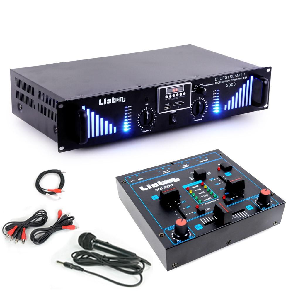 Erweiterungs Set Mixer und Bluetooth Verstärker DJ Add On 4