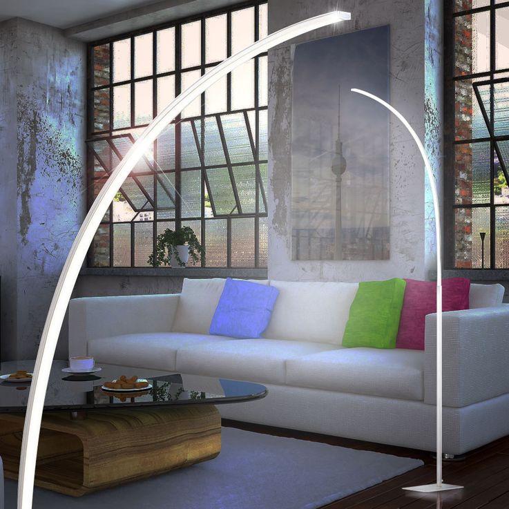 12,6 Watt LED Steh Stand Leuchte Nickel Fußtrittschalter Beleuchtung ESTO 724016 – Bild 3