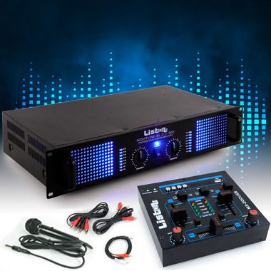 PA extension système 3000W amp MP3 USB table de mixage microphone DJ-Add-On 5 – Bild 2