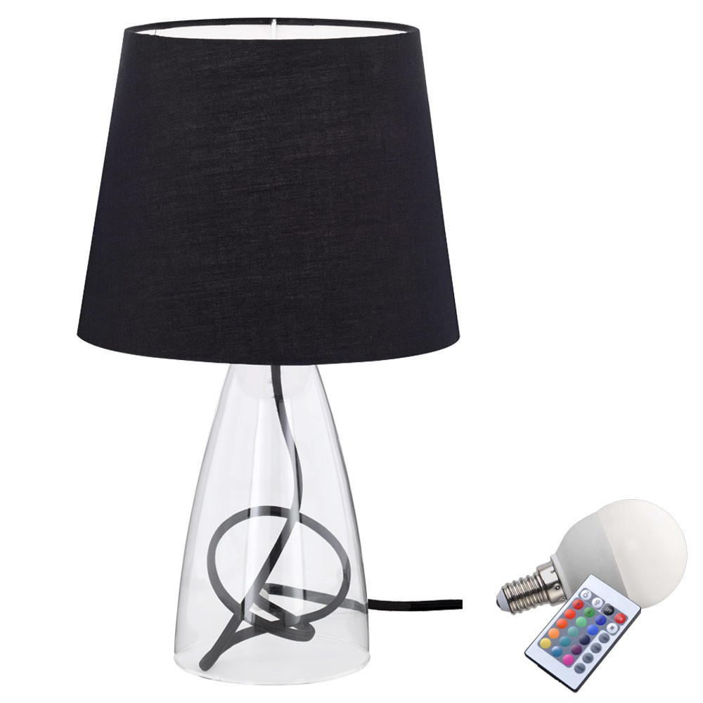 led nuit clairage de table tissu lumi re variateur lampe de chambre coucher ebay. Black Bedroom Furniture Sets. Home Design Ideas