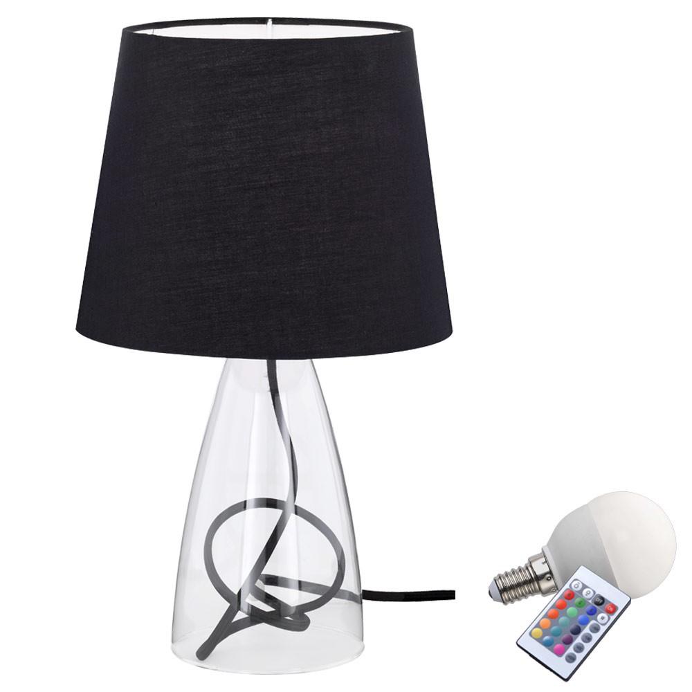 led nuit clairage de table tissu lumi re variateur lampe de chambre coucher ebay. Black Bedroom Furniture Sets. Home Design Ideas