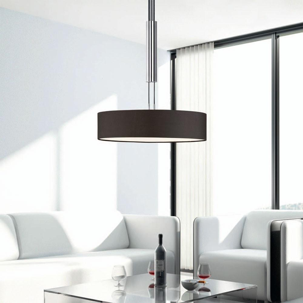 rgb led pendelleuchte metall chrom polyester schwarz unsichtbar lampen m bel au enleuchten. Black Bedroom Furniture Sets. Home Design Ideas
