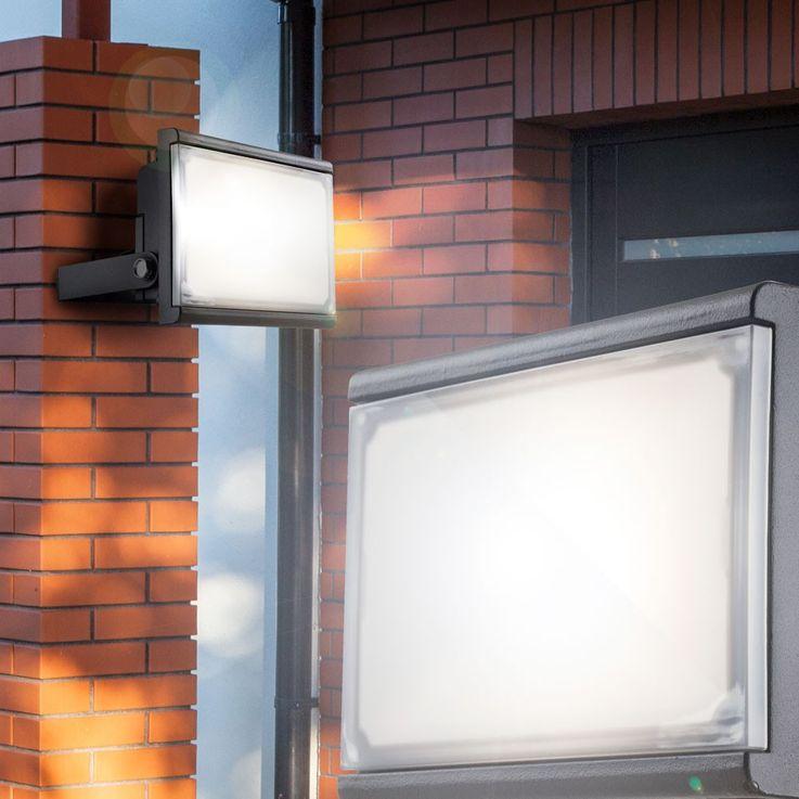 10 watt LED wall spotlights outdoor spotlights flood construction lamp swiveling EEK A Globo 34231 – Bild 2