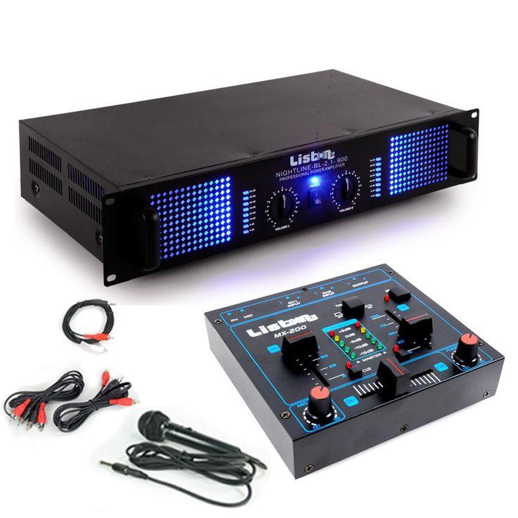 PA Erweiterungs Anlage 2400 Watt Verstärker Kompakt Mischpult DJ-Add-On 6 – Bild 1