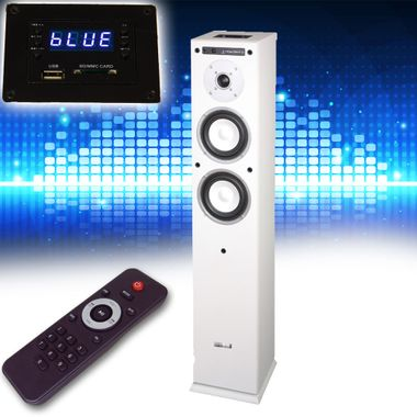 Music box speaker USB SD Bluetooth Hi-fi compact system home theater white – Bild 2