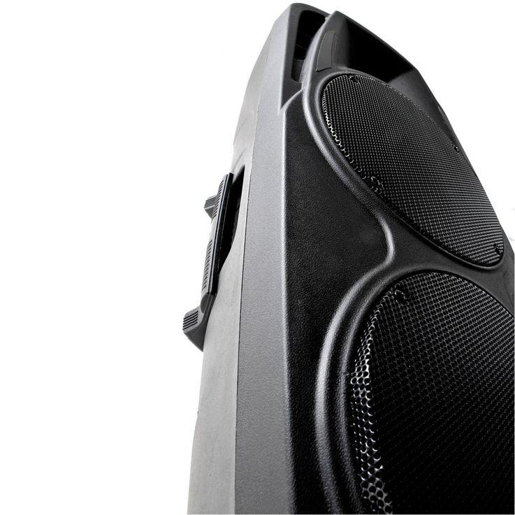 Mobile Beschallungsanlage 600 Watt Lautsprecher Mikrofon Fernbedienung Bluetooth PORT225VHF-BT – Bild 4