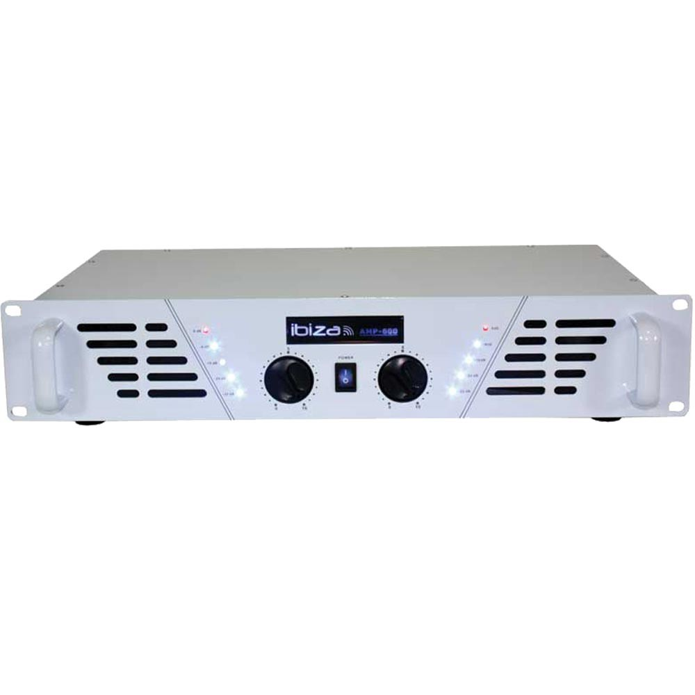 PA amplifier 960 Watt amplifier music professional plant know volume control Ibiza AMP600-WH