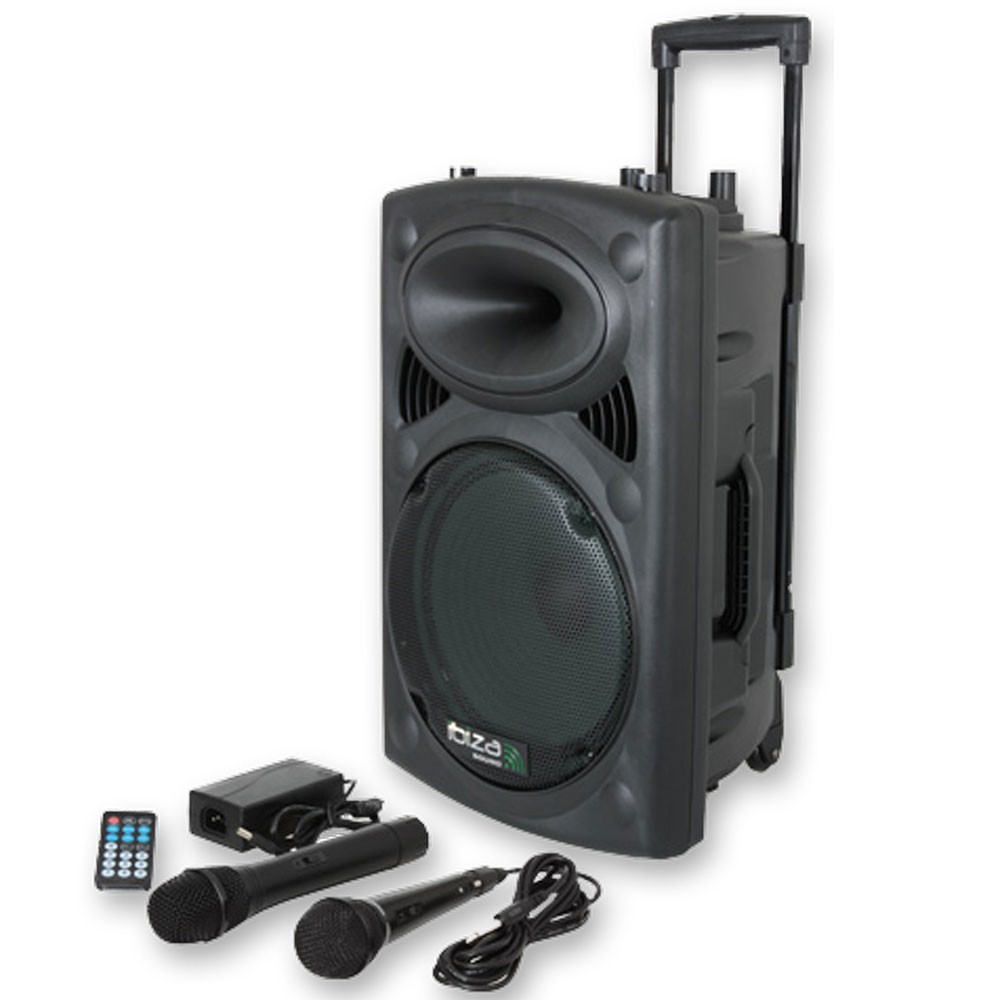 400W Mobile Musikanlage USB/SD und Bluetooth inkl. 2x Mikro
