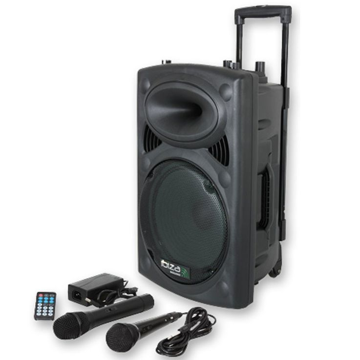 DJ PA 400W Karaoke Anlage mobile PA-Box Lautsprecher Bluetooth MP3 USB SD Ibiza PORT8VHF-BT – Bild 1