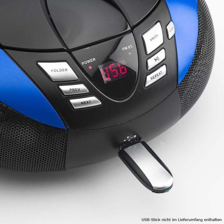 Tragbarer CD-Player UKW MW Radio Tuner MP3 WMA USB mit Sternchen Sticker – Bild 6