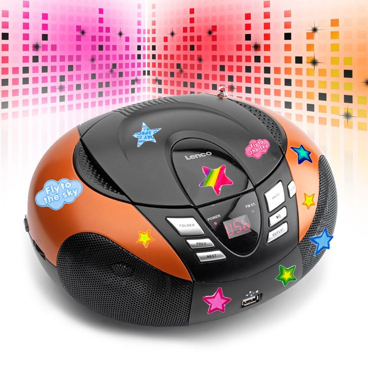 Portable CD player with FM MW radio tuner MP3 WMA USB asterisked stickers – Bild 2