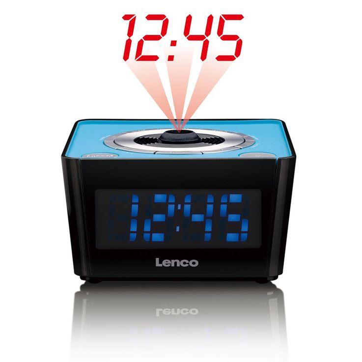 UKW Funk Wecker Uhren Radio FM Tuner LED Display Dimmer Lenco CR-16_blau – Bild 1