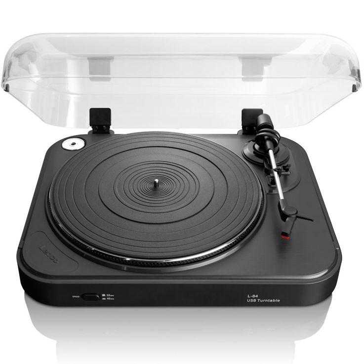 Schallplatten Spieler PC Turntable Musik Hi-Fi Vinyl DJ USB Verstärker Lenco -84L – Bild 1