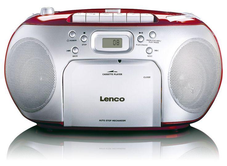 Stereo music sound audio FM radio system CD players portable cassette player Lenco SCD-42 Red – Bild 2