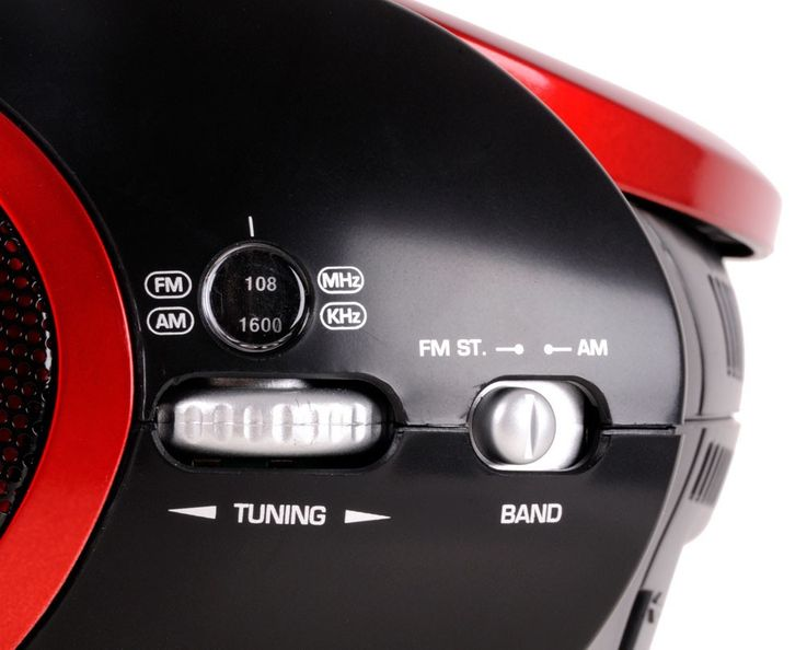 AEG Tragbarer Kinder CD Player Stereo Musik Anlage Radio AUX-IN MP3 mit Sternchen Sticker – Bild 7