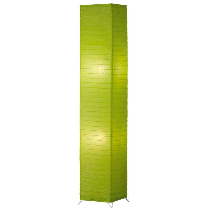 Elegant paper floor lamp foot switch status lamp lights green Reality – Bild 1