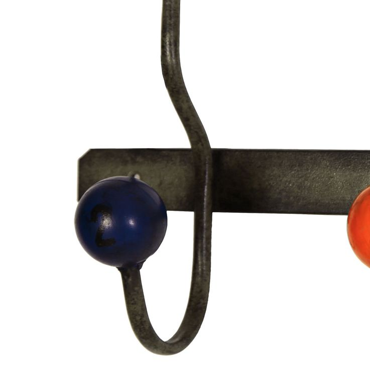 Design metal wall wardrobe 3 hooks clothes stand blue red black ball  BHP B990851 – Bild 4