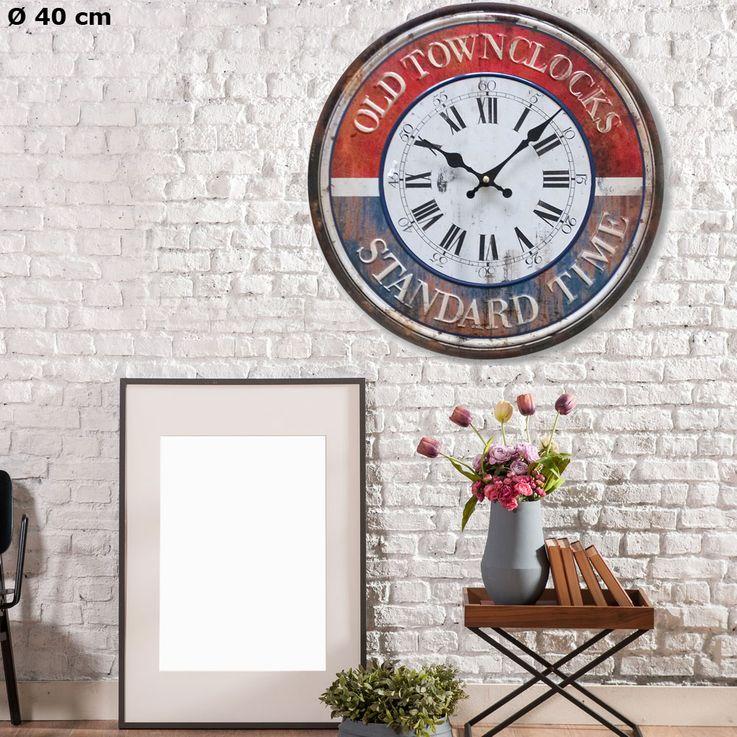 Vintage Wand Uhr Zeit Anzeige analog römische arabische Zahlen Durchmesser 40 cm BHP B991054 – Bild 2