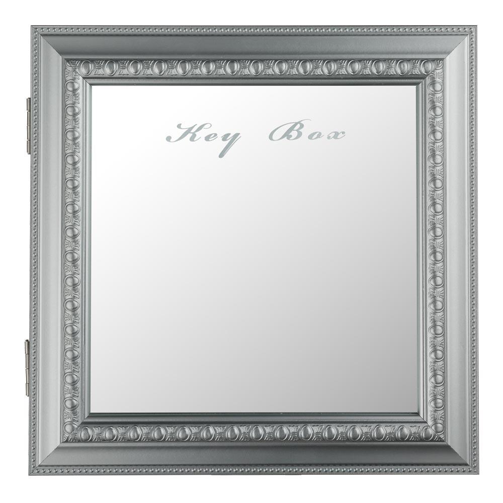 Design clef bo te kasten argent crochet mural rangement for Impression en miroir