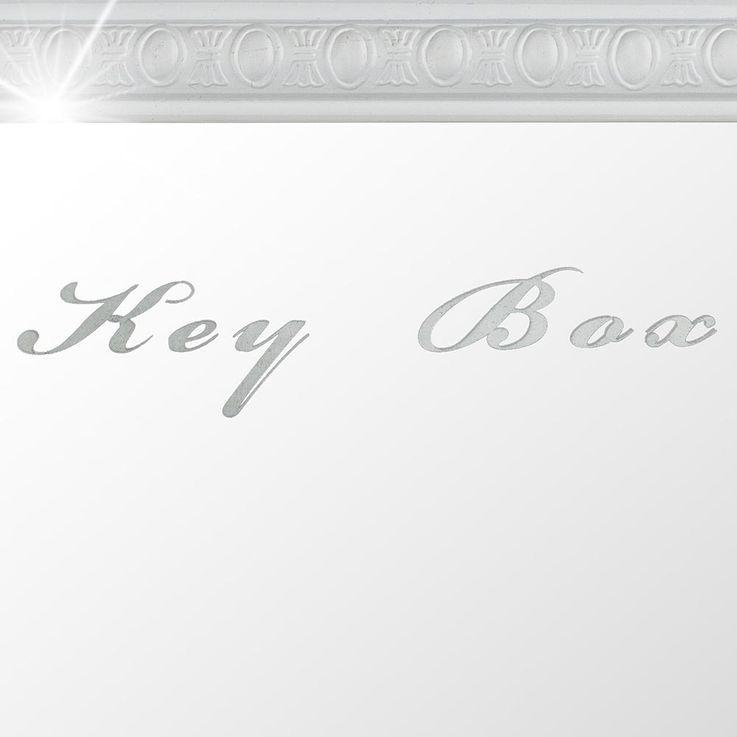 Schlüssel Kasten 10x Haken Flur Spiegel Tür Ablage Board weiß  Wand Box Schrank BHP B991309-3 – Bild 3