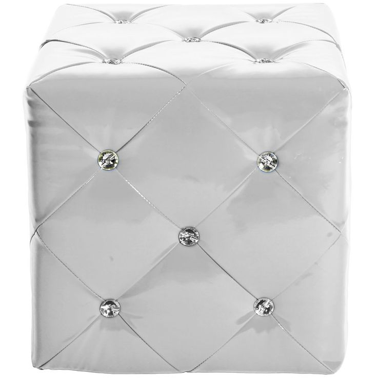 Design MDF stool art leather rhinestone stone crystals seat furniture white lounge chair – Bild 3