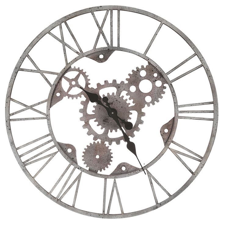 Vintage wall clock antique time display silver living room time display diameter 60 cm  BHP B990933 – Bild 1