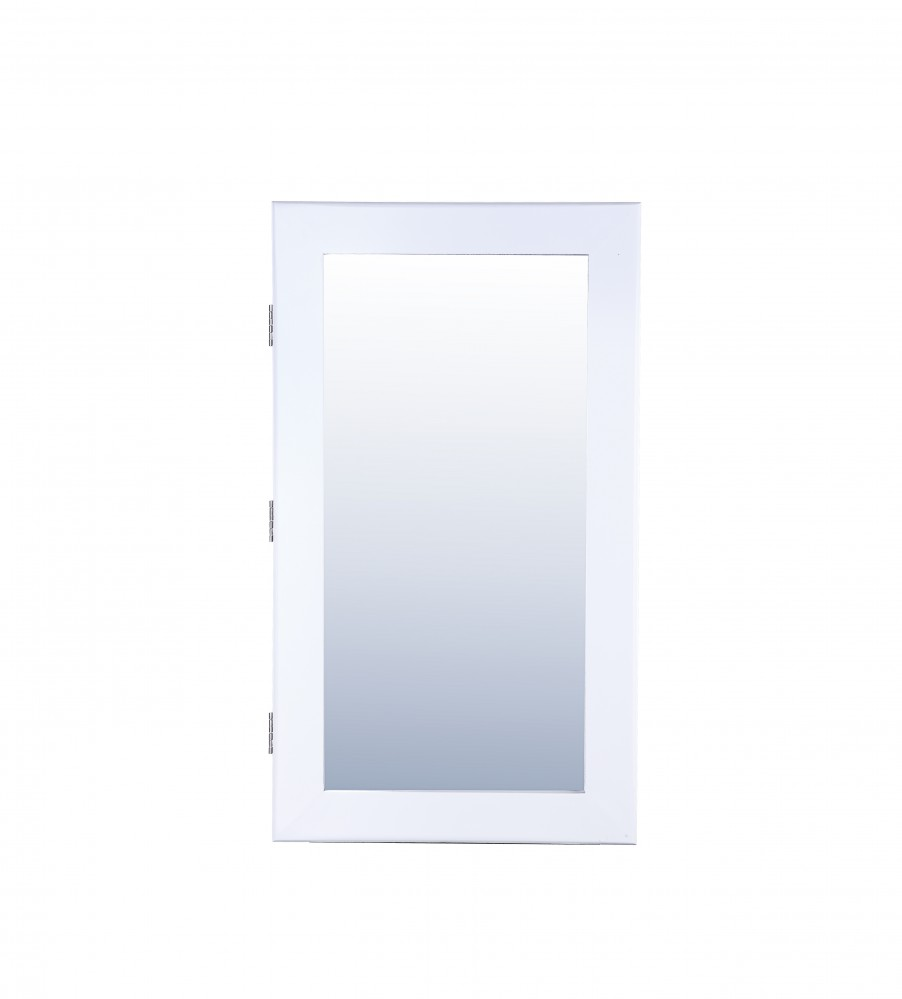 Schmuckschrank 12cm MDF weiß matt lackiert inkl Spiegel Wandmontage max 5 kg