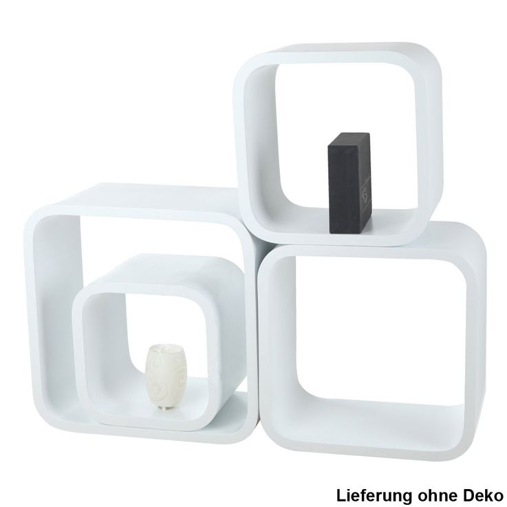 Set of 4 Wall Shelves Living Room Stand Stand Deco High Gloss Design Hanging Cube BHP B421011  -3 – Bild 1