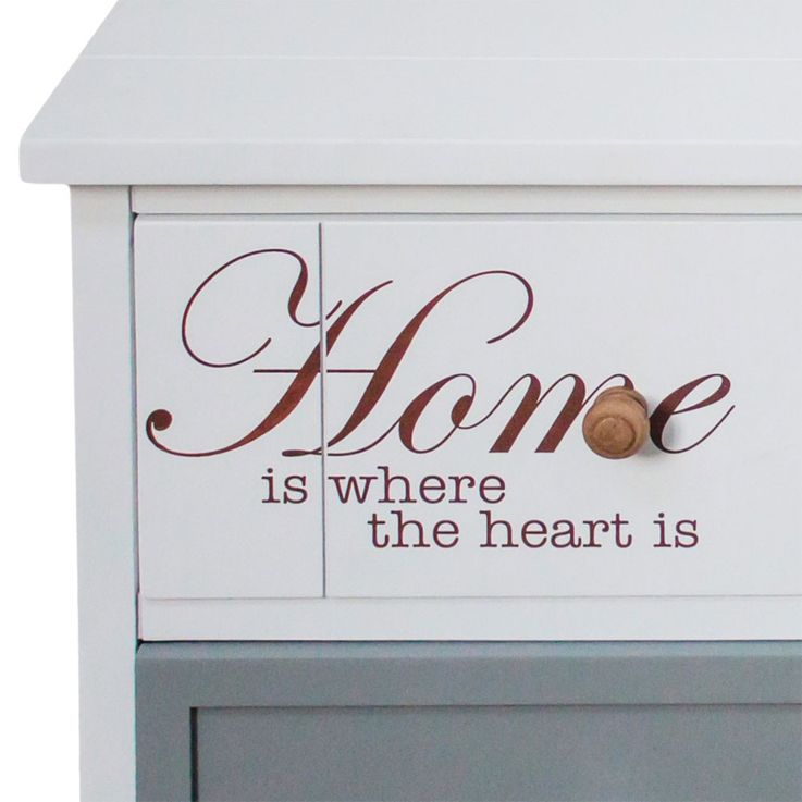 Chest lettering white 2 drawer 2 compartments residential sleeping room Cabinet – Bild 3