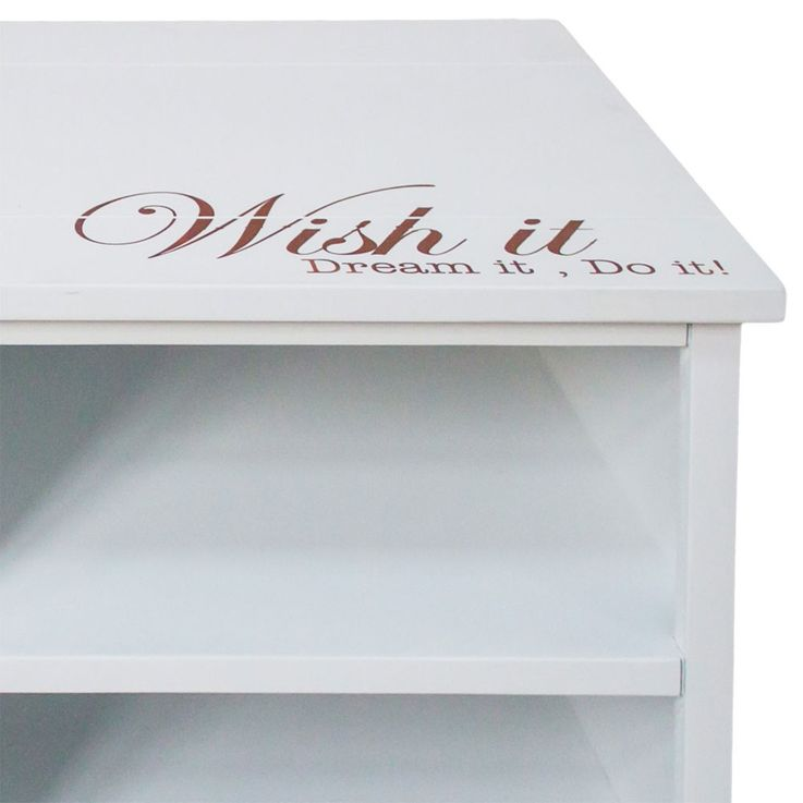 Chest lettering white 2 drawer 2 compartments residential sleeping room Cabinet – Bild 4
